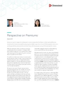 thumbnail of Perspective on Premiums –
